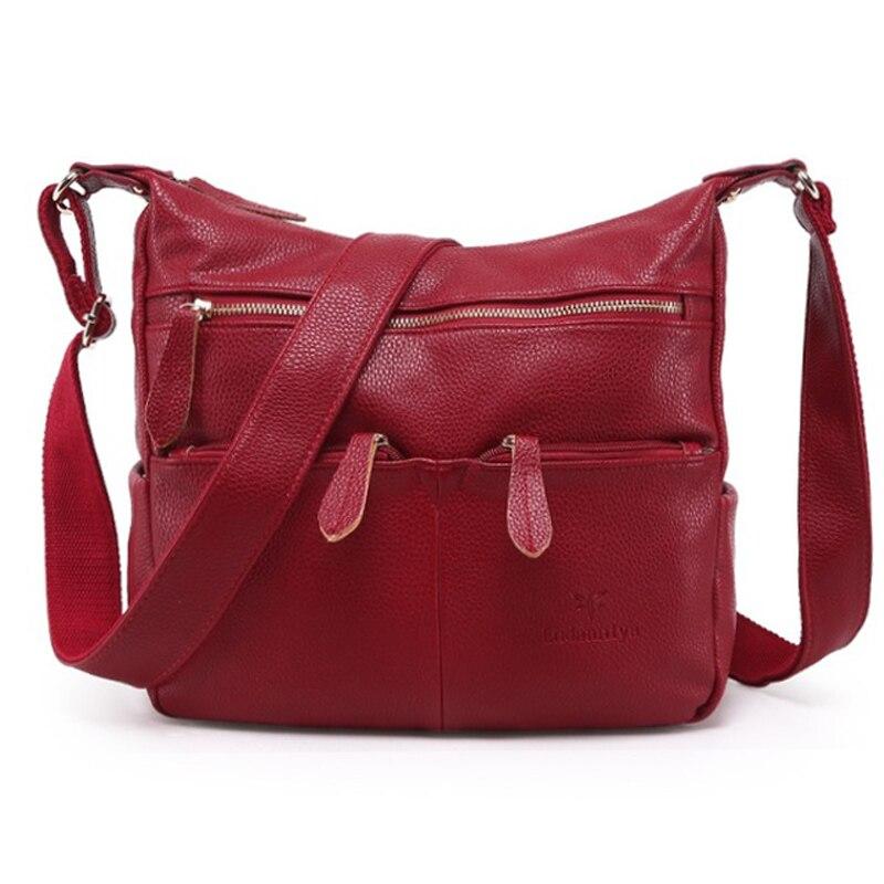 2019 Fashion Women Messenger Bags COMPOSITE GENUINE LEATHER Women's Handbag Women Bag Vintage Ladies Tote Crossbody Shoulder Bag