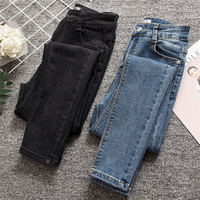 Plus Size 4XL High Waist Jeans Pants Women Vintage Streetwear Skinny Jeans Woman Casual Trousers Ladies Jeans Pencil Pants Q946
