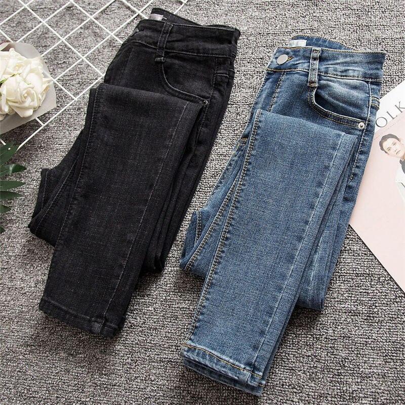 Mujer Denim Harem pantalones para las señoras grandes Checkboad vendimia  larga moda Casual Otoño Invierno 807022 efba26a24a54