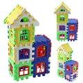 Bebé Niños Casa de Construcción Bloques de Construcción de Aprendizaje Educativo Juguete de Desarrollo Conjunto Juego Del Cerebro