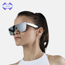 VCKA Women Sunglasses Conjoined Spectacle Lens Rimless Alloy