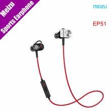 Original Meizu EP51 Auriculares de Cancelación de Ruido Auriculares Inalámbricos Bluetooth Deportes de Aleación de Aluminio Shell TPE Línea de Auriculares