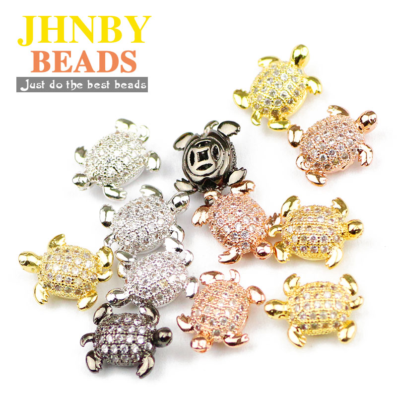 90pcs Antique gold Loose Cute Small Turtle Spacer Beads For Jewelry Finding 9mm