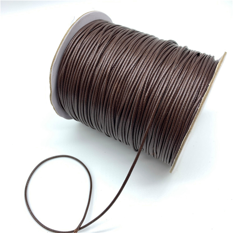 0.5mm 0.8mm 1mm 1.5mm 2mm Brown Waxed Cotton Cord Waxed Thread Cord String Strap Necklace Rope For Jewelry Making