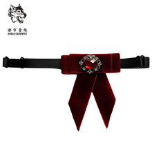 Men's Velvet Collar Bow Tie Jewelry Male Marriage Wedding Dress Man Ascot Students Bowtie Purple Red Banquet Pajaritas Butterfly