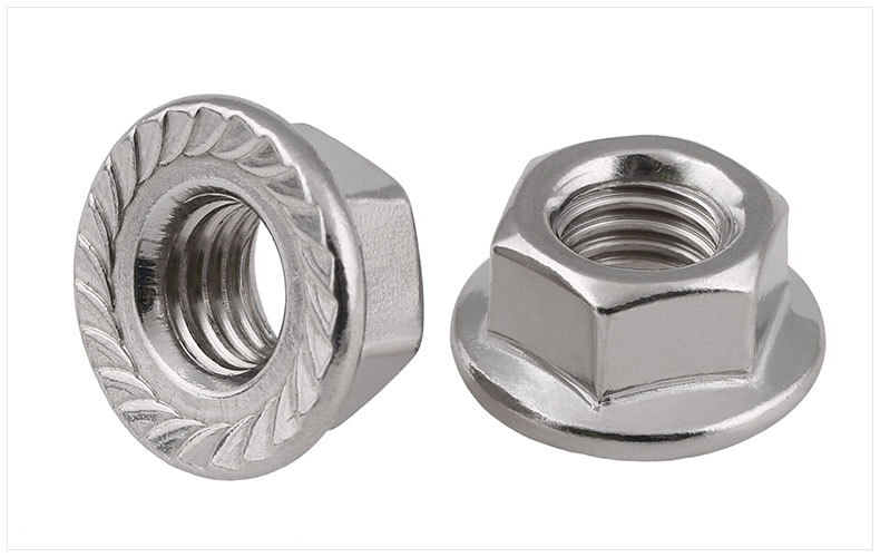 100pcs M3 M4 M5 M6 Stainless Steel Hex Flange Nut Hexagon Nuts Lock Nut Antiskid Nut