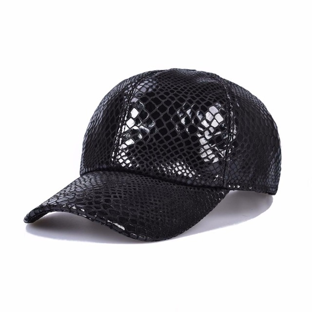 Fall Winter Men Women True Leather Black Trucker Sports Snapback Baseball Cap 2006
