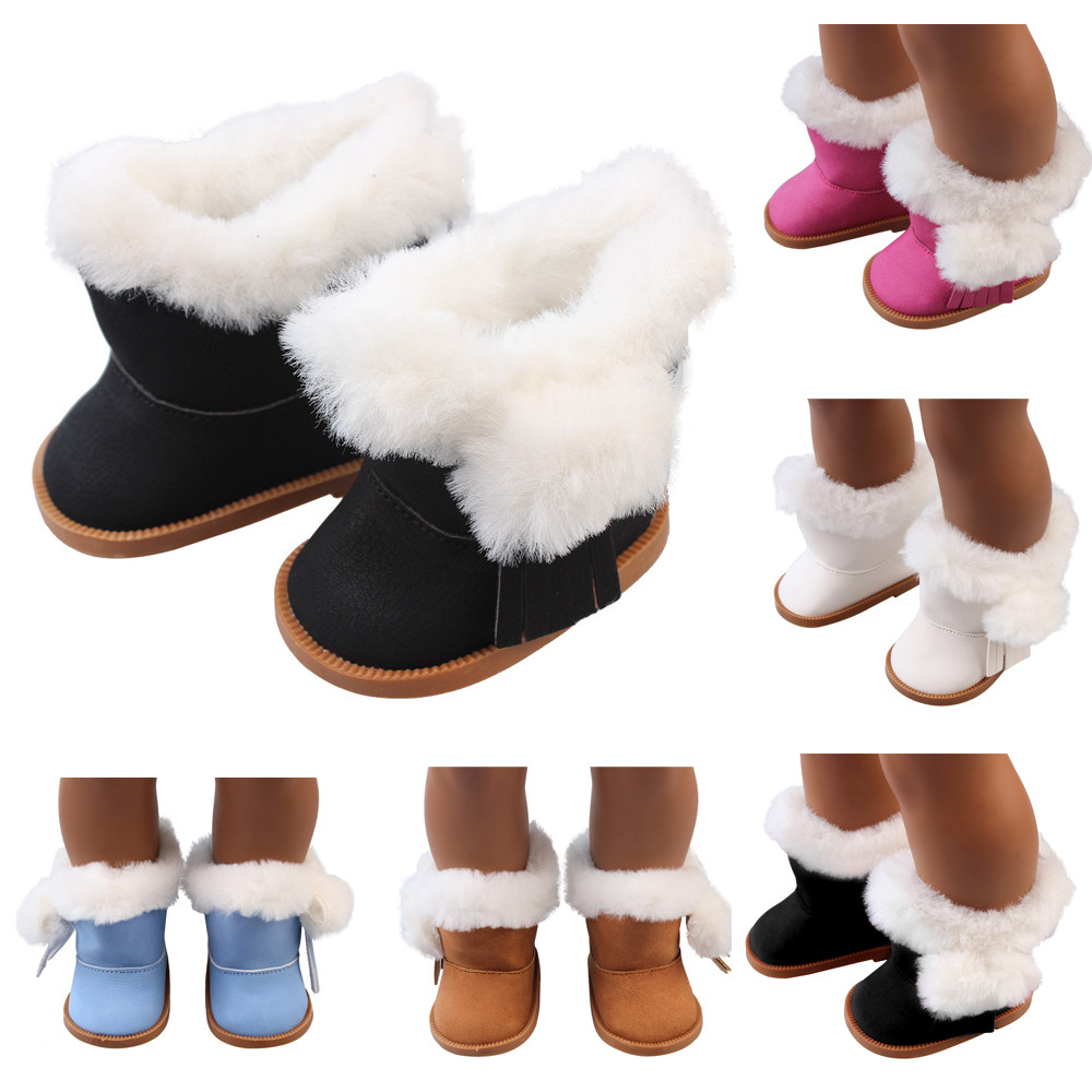 5color Cute Doll Shoes For 18 Inch Baby Born Doll Handmade Sneakers American Girl doll Accessories Denim Fluff Mini Toy Shoes [mmmaww] christmas costume clothes for 18 45cm american girl doll santa sets with hat for alexander doll baby girl gift toy