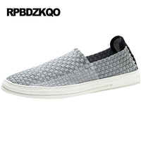 Camouflage Casual Skate Sneakers Blue Summer Breathable Mesh Shoes Men Slip On Woven Black Korean New Trainers Platform 2017