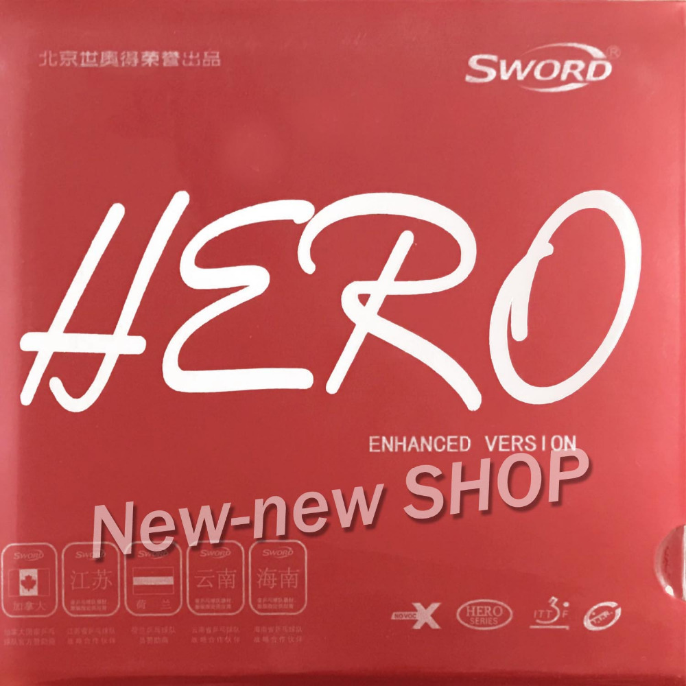 Sword Hero New Enhanced Version Pips-In Table Tennis Ping Pong Rubber With Sponge