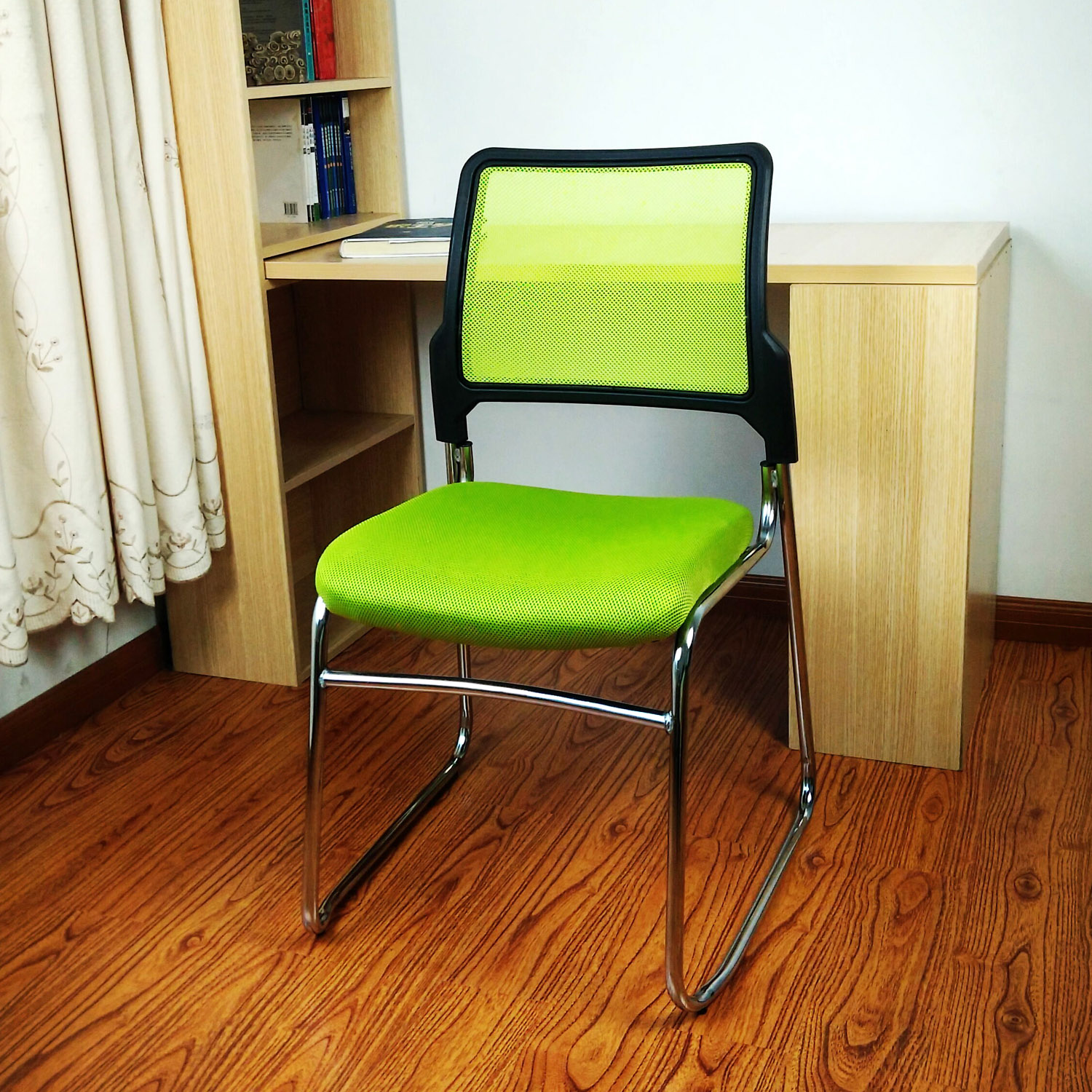 Desk Chair Legs Covers For Plastic School Chairs Simple Steel Mesh Cloth The Conference Staff