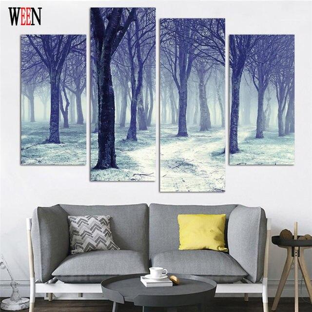 Tienda Online Ween anochecer árbol de arce HD impreso enmarcado 4 ...