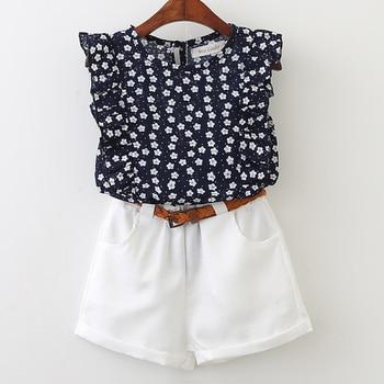 Keelorn Girls Clothing Sets 2018 Summer Fashion Style Kids Clothes T-shirt & shorts 2Pcs Suit Kids conjuntos casuales para niñas