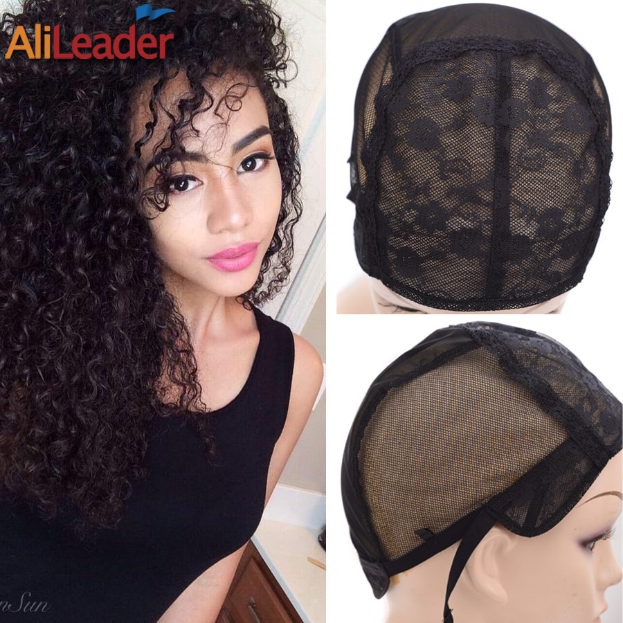 Wholesale 5Pcs/Lot Wig Caps For Making Wigs Double Swiss Lace In The Front Best Wig Making Tools Black S/M/L/XL Large Wig Cap metalowe skrzydła dekoracyjne na ścianę