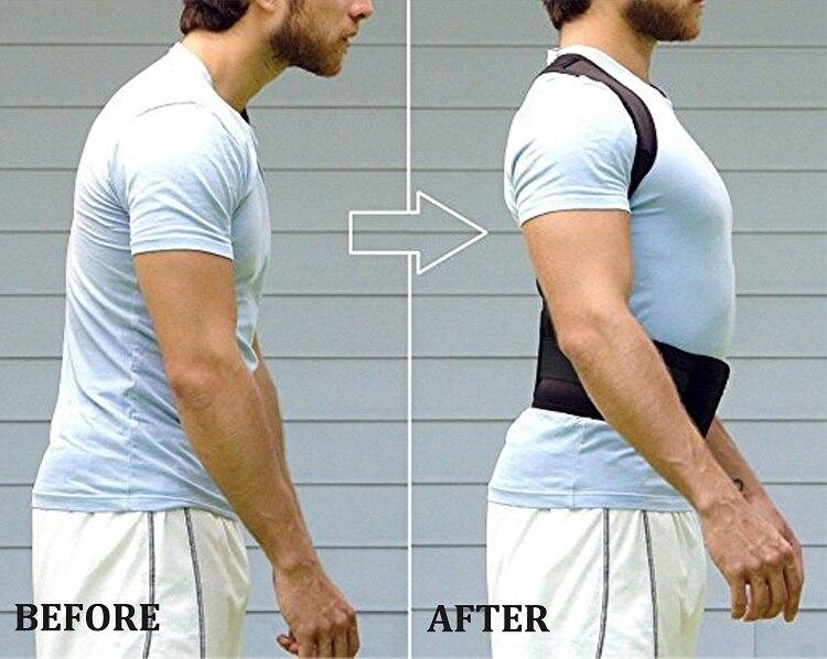 Posture Corrector For Men Women Back Support Adjustable Shoulder Lumbar Brace Adjustable Magnet Posture Corrector Male Corset