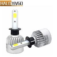 1 Pair H1 COB Car LED Headlight Bulb 8000LM 6500K 72W All In One Bulbs Auto