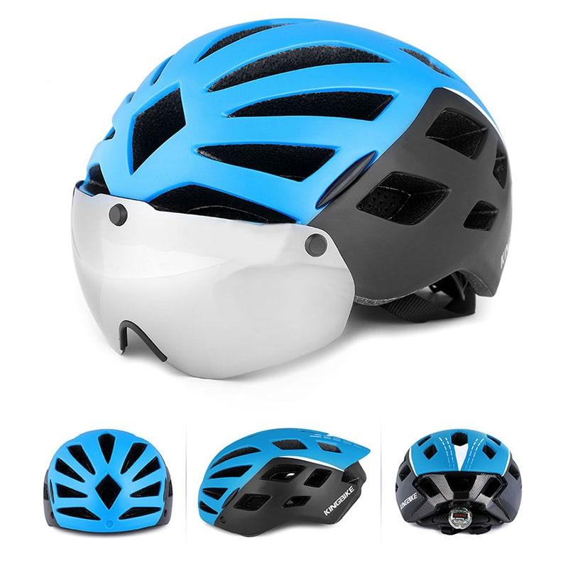 BATFOX Ultraleve Intégrale du moldado Ciclismo VTT Capacete Capacete Da Bicicleta Com luzes LED Casco Ciclismo dans Casque de vélo de Sports et loisirs