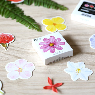 45 Pcs/box Cute Kawaii Flower Girl Papers Stickers Flakes Romantic Love For Diary Decoration Diy Scrapbooking Stationery Sticker корм tetra tetramin xl flakes complete food for larger tropical fish крупные хлопья для больших тропических рыб 10л 769946