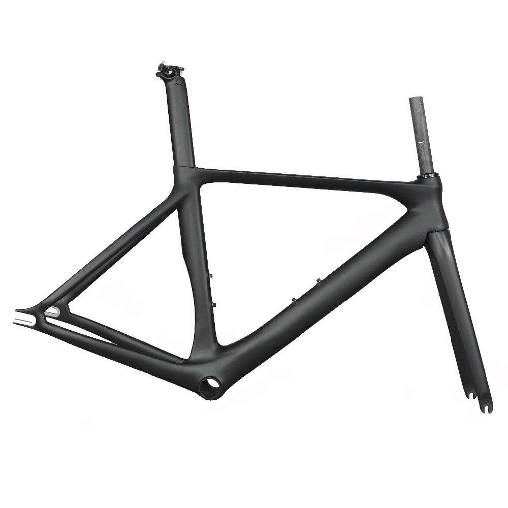 New Model Track Bike Carbon Fixed Gear Bike Frame With BB86 Carbon Fixed Bike Frame Aero Bicycle Frame
