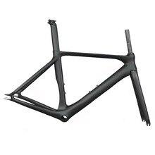 Nuevo Modelo de bicicleta de pista de carbono Marco de bicicleta de engranaje fijo con BB86 Marco de bicicleta fija de carbono aero