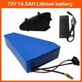 El impuesto de las aduanas 72 v 14.5ah bici eléctrica batería 72 v uso de la batería de iones de litio mah celular panasonic 2900 triángulo 84 v 2a cargador