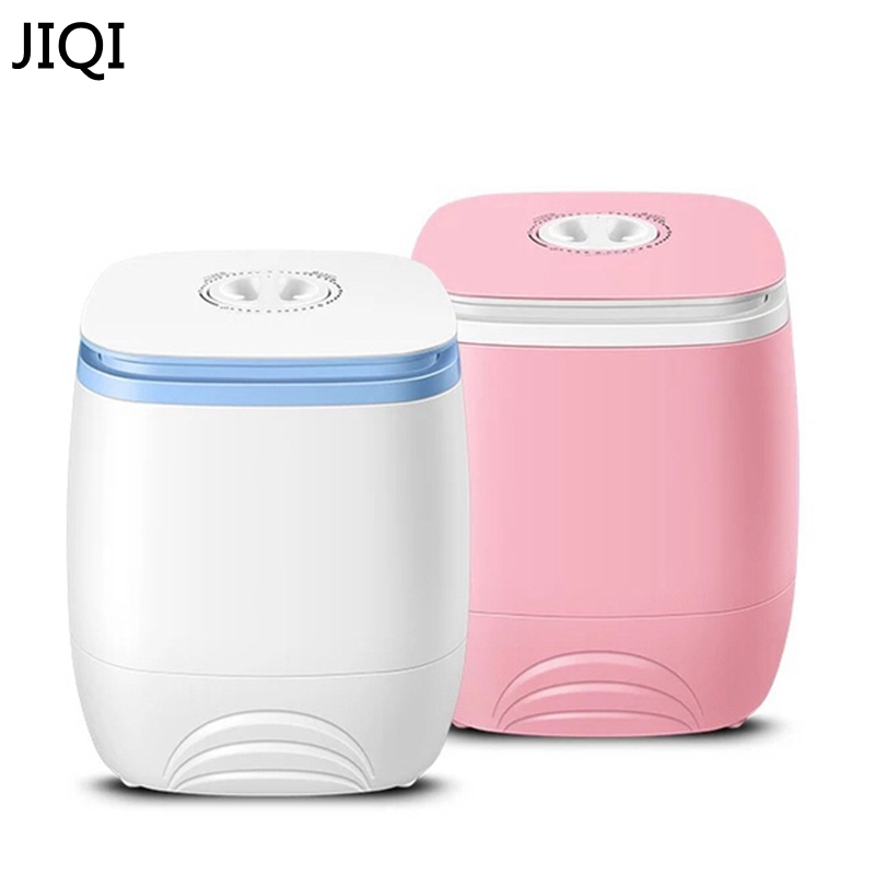 JIQI 3L Portable Single Barrel Washing Machine Semi-automatic Mini Top Loading Open Washing Device Large Capacity Children Home