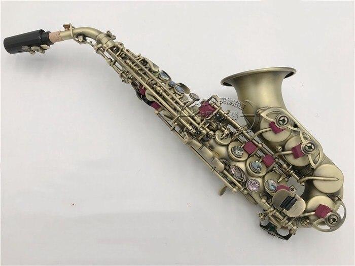 Japon Soprano Saxophone Sax S-991 B Antique Copper Simulation Instrument Promotions Soprano Saxophone Super performance Livraison