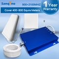 Sanqino 2G 3G Signal Repeater Dual Band Mobile Phone Signal Booster GSM 900Mhz 3G 2100MHz Amplifier Extender Cell Boosters