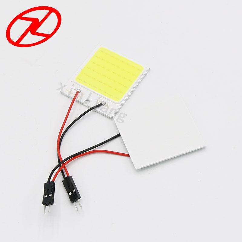 2бр Бял COB чип 48 smd LED интериор на - Автомобилни светлини - Снимка 2