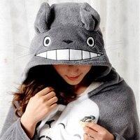 New Totoro Lovely Plush Soft Cloak Totoro Cape Cat Cartoon Cloak Coral Fleece Air Blankets Birthday