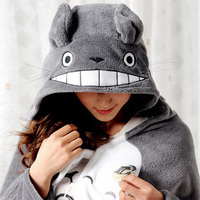 New Totoro Lovely Plush Soft Cloak Totoro Cape Cat Cartoon Cloak Coral Fleece Air Blankets Birthday