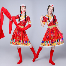 New Tibetan dance costumes female sleeves ethnic minority costumes adult stage