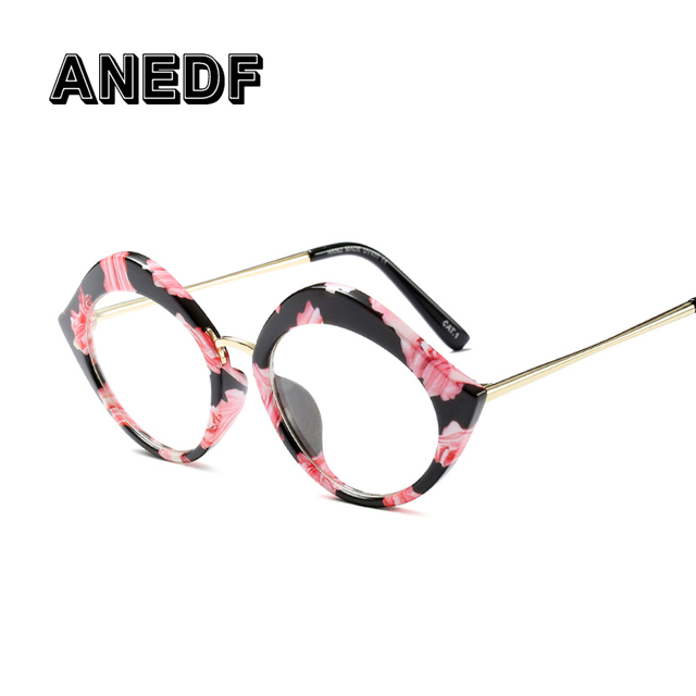ANEDF 2018 New Lady Cat Eye Glasses Frame For Women Brand Designer Optical EyeGlasses Fashion Eyewear
