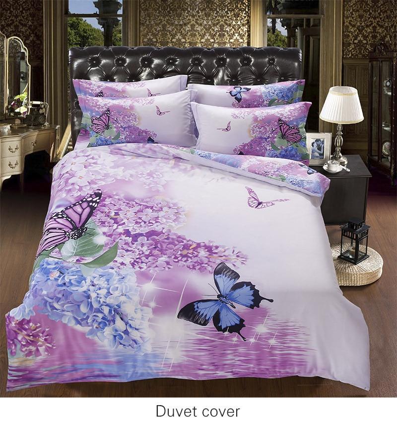 Purple Butterfly Comforter Sets Queen