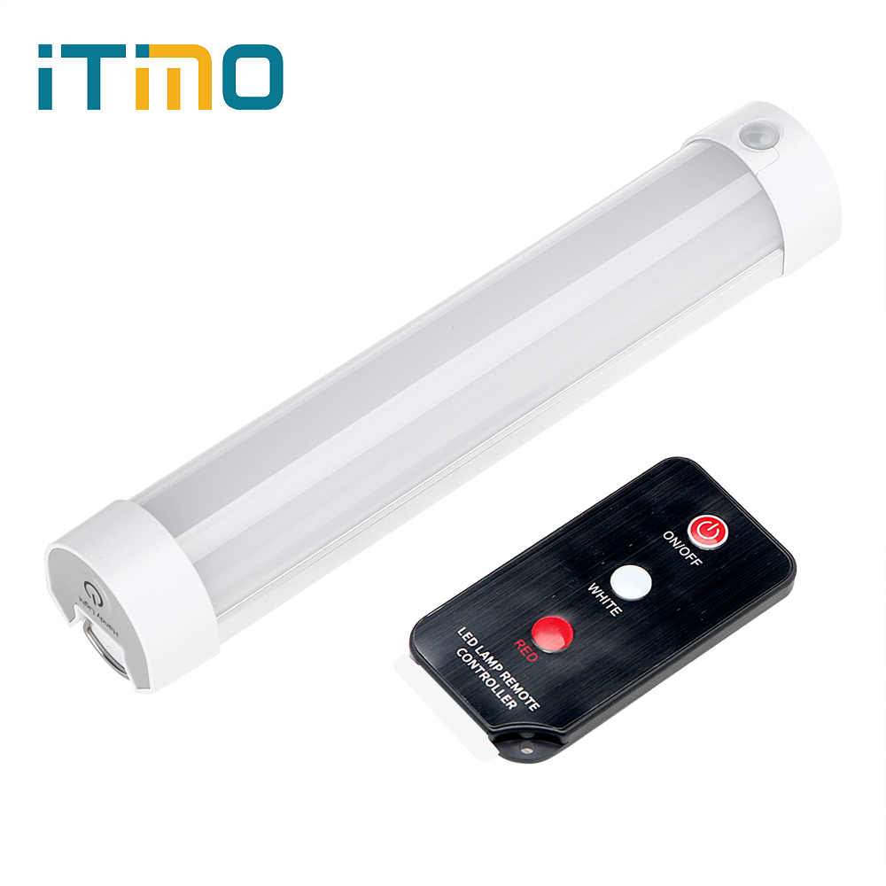 ITimo LED SOS Emergency Light Portable Lantern with Remote Control Camping Hiking Lamp Rechargeable Magnetic Repair Light
