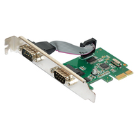 כרטיס הרחבה סידורי יציאת PCIE 2 PCI Express 1.0x1 כדי DB9 COM RS232 ממיר מתאם בקר תעשייתי עבור מחשב שולחני