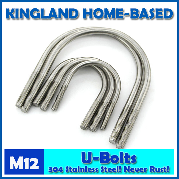 цена на M12 U-Bolt 304 Stainless Steel U Bolt U Type Pipe Clamp Stirrup Screw