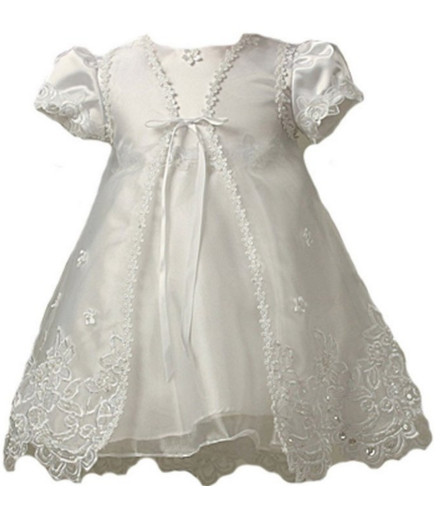 2016 New Todder Baby Infant Gown Dress Baby Girl Christening Gowns Dress WITH BONNET 0 3 6 9 12 18 24Month