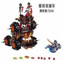 544pcs LEPIN 14018 Nexus Knights General Magmar's Siege Machine Of Doom Building Blocks Minifigure Toy Compatible