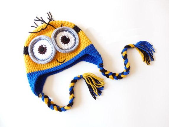 c4a73ab0335e9 Crochet baby minion hat   minion beanie   baby beanie   baby hat   photo  prop