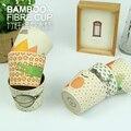 O bebê Caçoa a louça Copos Learnning bebê Bonito Beber Copos de Bambu 6.5*8.5 cm