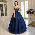 Lujoso Rebordear Fuera del Hombro vestidos de Noche Formales Vestidos de Fiesta de Graduación de Baile Vestido de Ocasión Especial robe de soirée