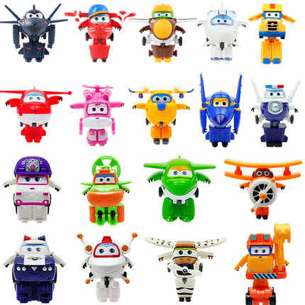 NEW !!!17 styles Super Wings Mini Airplane ABS Robot toys Action Figures Super Wing Transformation robot toys for Children Gifts