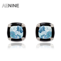 Ethnic Trendy Earrings Beauty Rubber Porcelain Stud Earrings White Gold Plated Fashion Jewelry For Women 20207620741a