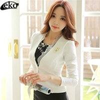 Elegant Autumn Women Coats Lace Splice OL Woman Jacket Short Style Slim Tops Coat For Women Jackets Fashion Coat Plus Size S 2XL