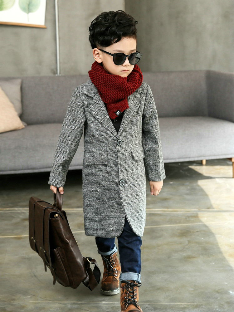 Plus Size Children 39 s Long Suit Plaid Coat 2019 Spring Fall Boys British Lattice Overcoat Teenage Kids Handsome Windbreaker X315 in Trench from Mother amp Kids