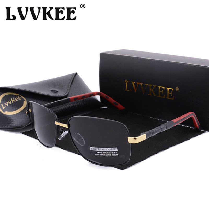 LVVKEE 2019 Luxury Brand Design Square Polarized Sunglasses For Men Driving Sun glasses Women Eyewear Oculos With Original Box