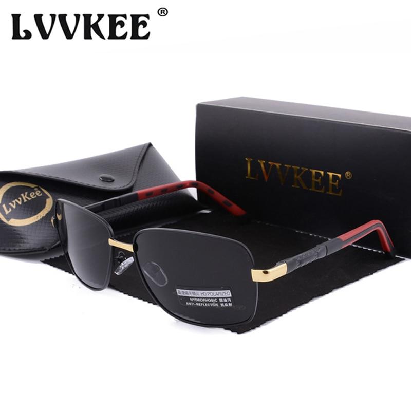 LVVKEE 2019 Luxury Brand Design Square Polarized Sunglasses For Men Driving Sun Glasses Women Eyewear Oculos With Original Box