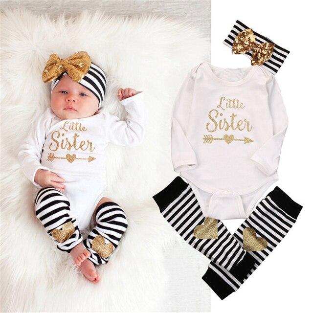 d76d61a39 3PCS Baby Boy Romber Pants Hats Headband Baby Girl Clothes Baby Born  Infants Bebek Toddler Set