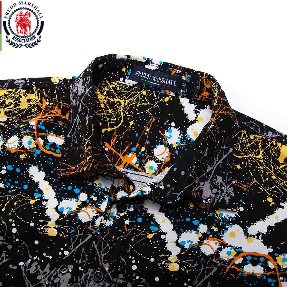 Fredd Marshall Neue 2018 Männer Marke Kleidung Slim Fit Hip-Hop-Shirt Männer Langarm 3D Drucken Hawaiian Shirt Casual streetwear 31